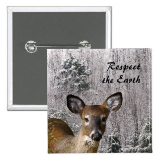 Deer and Misty Hills Earth Day Pins