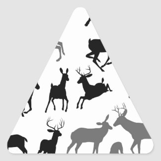 Deer animal silhouettes stickers