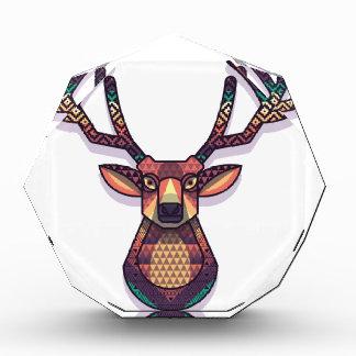 deer animal with horns acrylic award