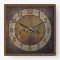 Deer Antler Clock - Man Cave