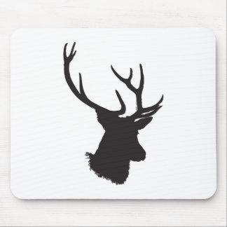 deer antler silhouette mouse pad
