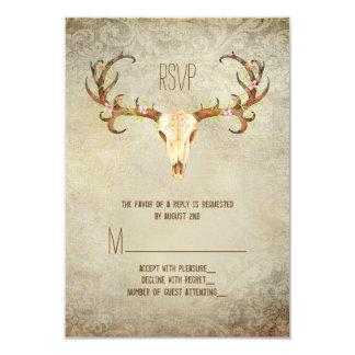 Deer Antler Southwestern Wedding RSVP Card
