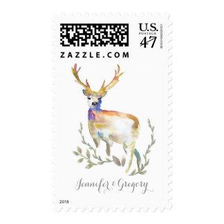 Deer Antler Wedding Postage