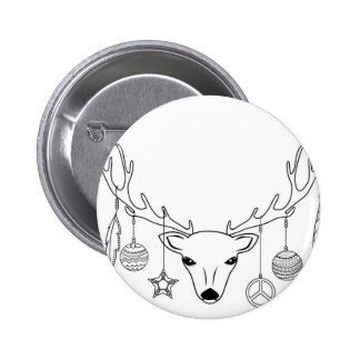 Deer antlers boho style button