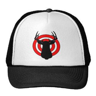 Deer Antlers Bullseye Mesh Hat