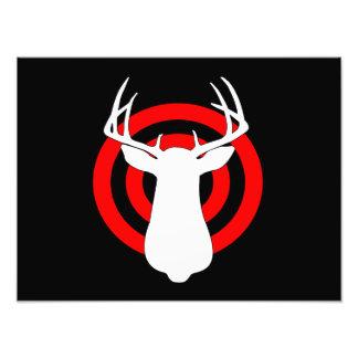 Deer Antlers Bullseye Photograph