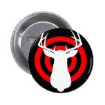 Deer Antlers Bullseye Pinback Buttons