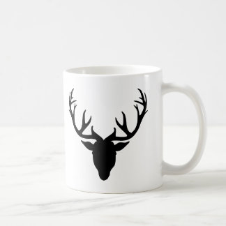 Deer antlers coffee mug