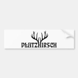 deer antlers deer antlers bachelors steam turbine  bumper sticker