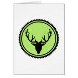 Deer antlers elk greeting card