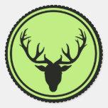 Deer antlers elk stickers