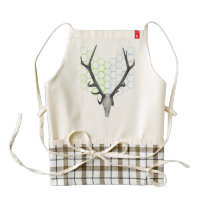 Deer Antlers Geometric Pattern Zazzle HEART Apron