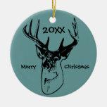 Deer Antlers Hunter Hunting Christmas Ornament
