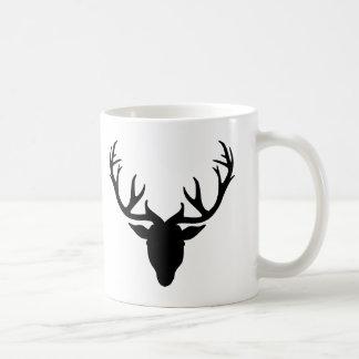 Deer antlers classic white coffee mug