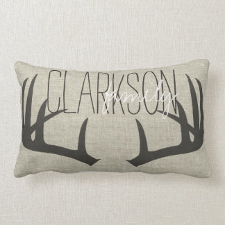 Deer Antlers Personalized Reversible Lumbar Pillow