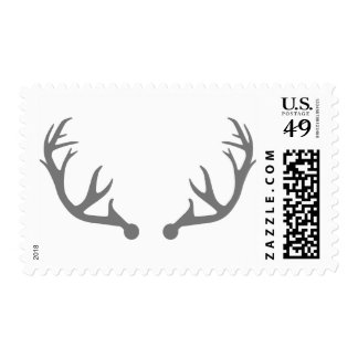 Deer antlers postage stamp