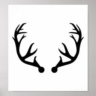 Deer antlers poster