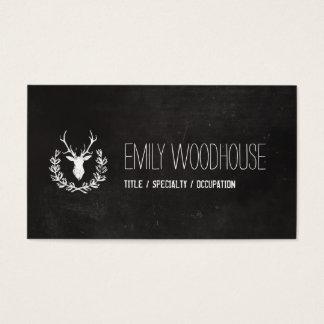 Deer Antlers | Rustic Chalkboard Business Card