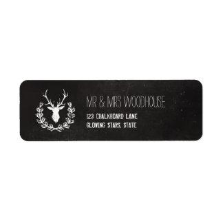 Deer Antlers | Rustic Chalkboard Label