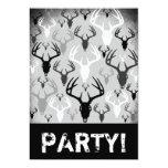 """Deer Antlers Skull pattern 5"""" X 7"""" Invitation Card"""