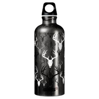 Deer Antlers Skull pattern Aluminum Water Bottle
