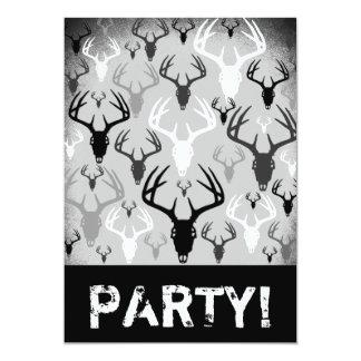 Deer Antlers Skull pattern Card