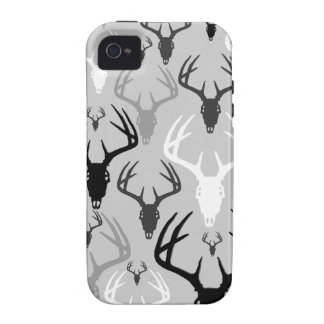 Deer Antlers Skull pattern Case For The iPhone 4