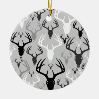 Deer Antlers Skull pattern Ceramic Ornament