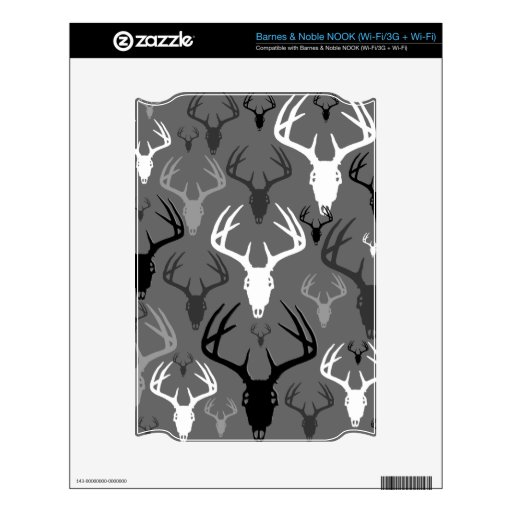 Deer Antlers Skull pattern Decals For NOOK