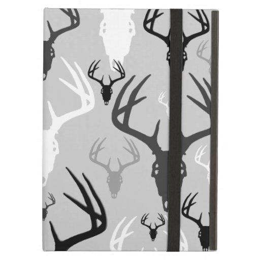 Deer Antlers Skull pattern iPad Case