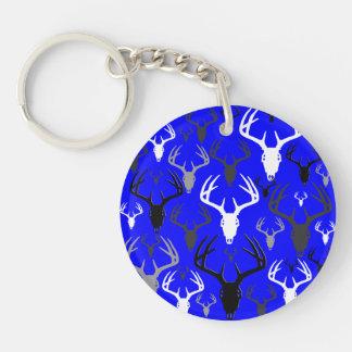 Deer Antlers Skull pattern Keychain