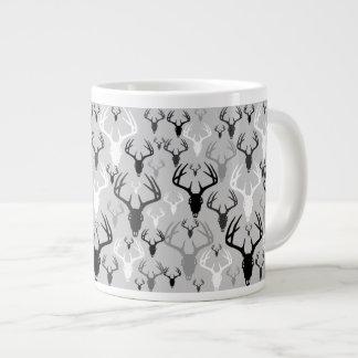 Deer Antlers Skull pattern Large Coffee Mug