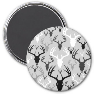 Deer Antlers Skull pattern Magnet