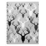 Deer Antlers Skull pattern Notebooks