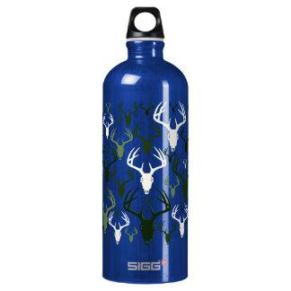Deer Antlers Skull pattern Water Bottle