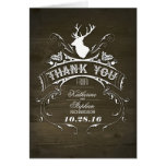 Deer Antlers Wedding thank you cards