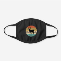 Deer Archery Bow Hunting Retro Sunset Black Cotton Face Mask