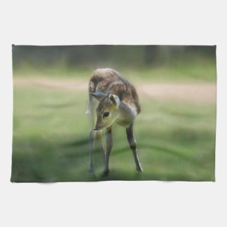 Deer are so sweet kitchen towels