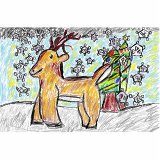 Deer art 2 statuette