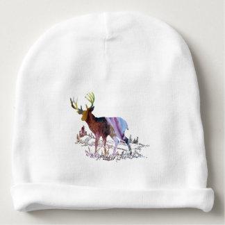 Deer art baby beanie
