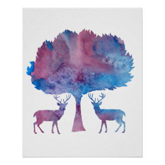 Deer Art Poster