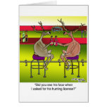 Deer Asking For a Hunting License Greeting Card