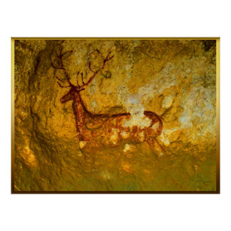 Deer at Chimiachas Poster