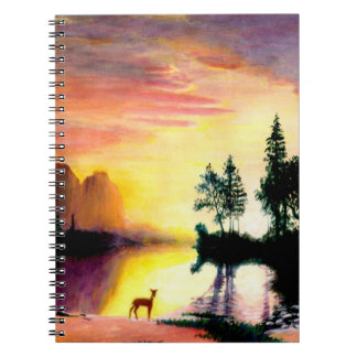 Deer at Dawn Notebook