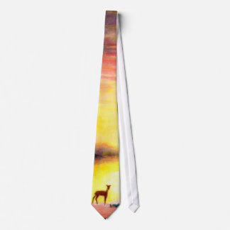 Deer at Dawn Tie