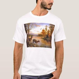 Deer At Lake Cabin T-Shirt