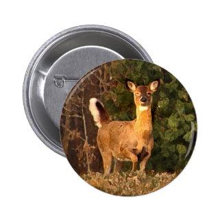 Deer at Sunrise Button