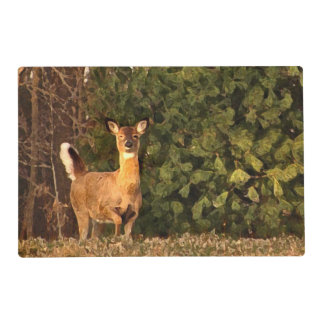 Deer at Sunrise Laminated Placemat