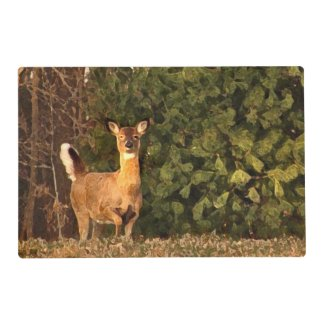 Deer at Sunrise Laminated Placemat