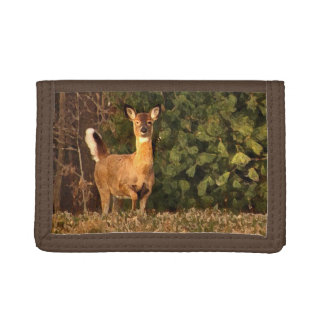 Deer at Sunrise Trifold Wallets
